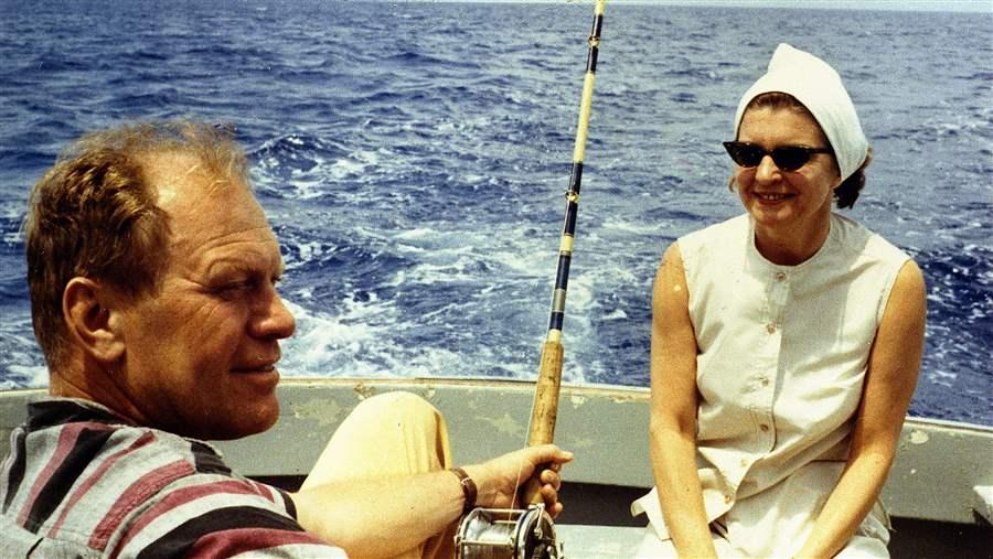President Gerald Ford fishing.