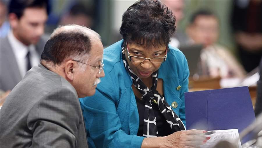 Democrats Jose Medina and Cheryl Brown