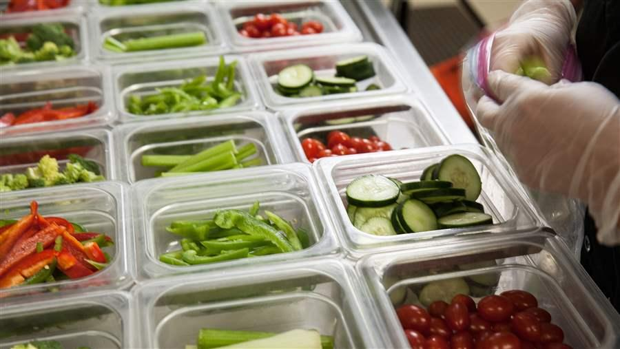 school salad bar