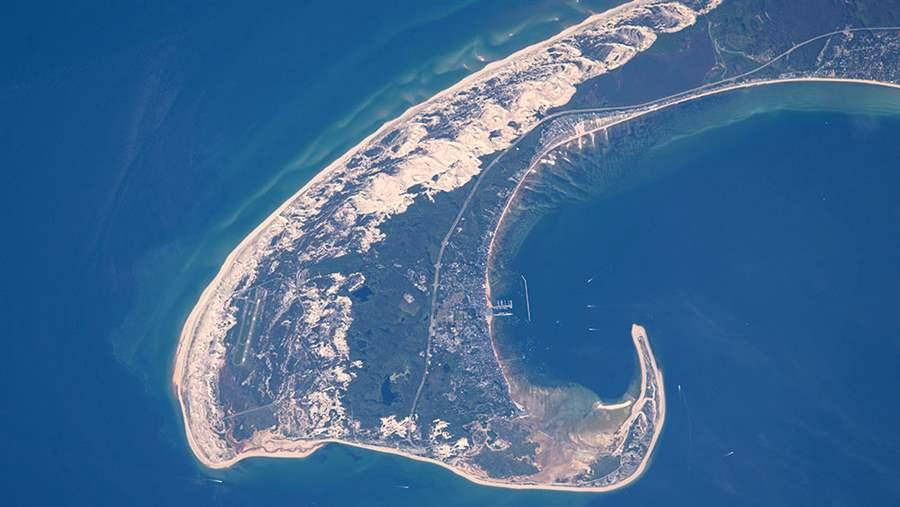 cape cod from international space station