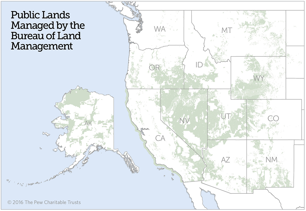 Quiet Recreation On BLM Land Generates Billions Of Dollars - Us public lands map
