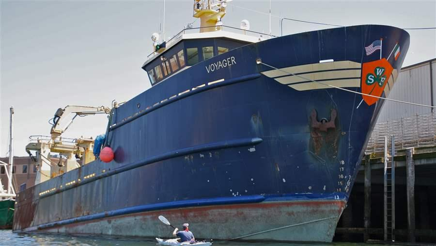 The midwater trawlers of the industrial herring fleet are among the largest fishing vessels working the Atlantic coast