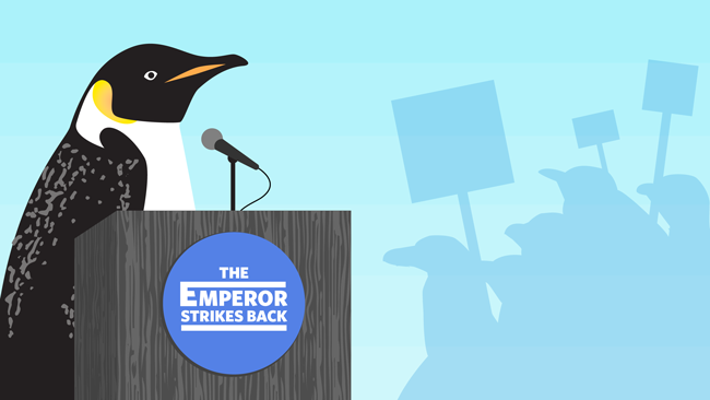 All hail the emperor penguin. Your vote made a difference!