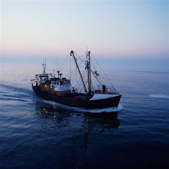 A Fishing Boat in the North Sea