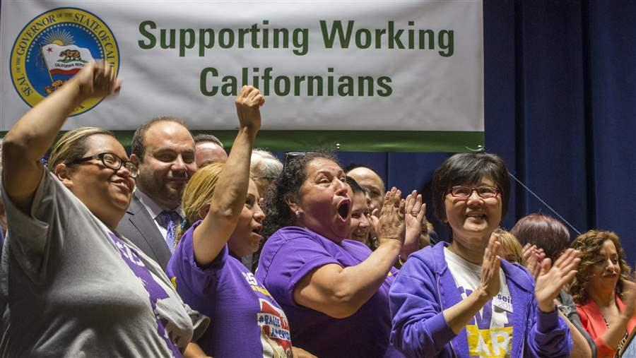Union workers in Los Angeles