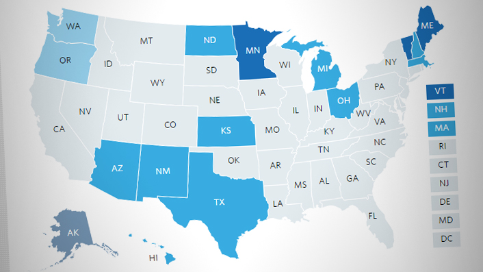States Expand The Use Of Dental Therapy - Map of us dentists by state