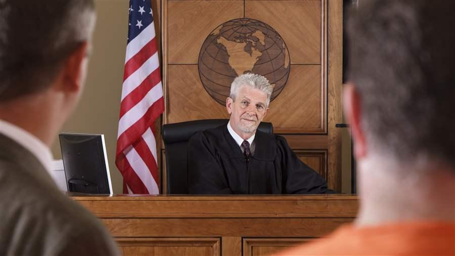 Judge in court