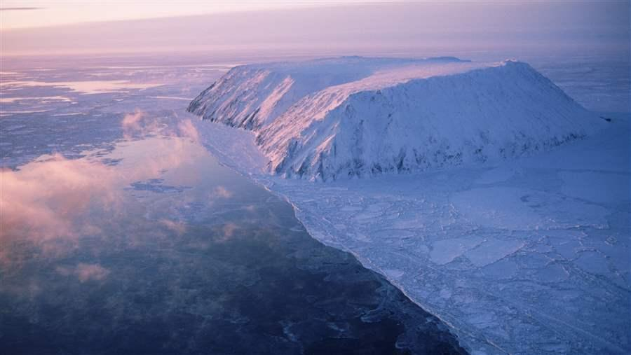 Little Diomede Island in the Bering Strait