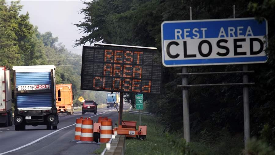 Rest area closed
