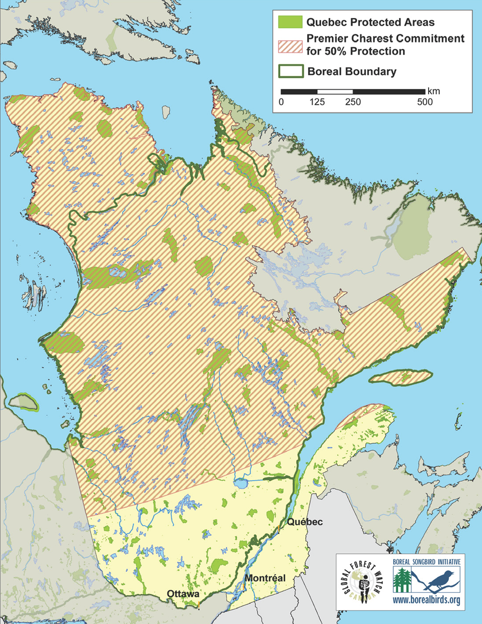 Quebec Protexted Areas