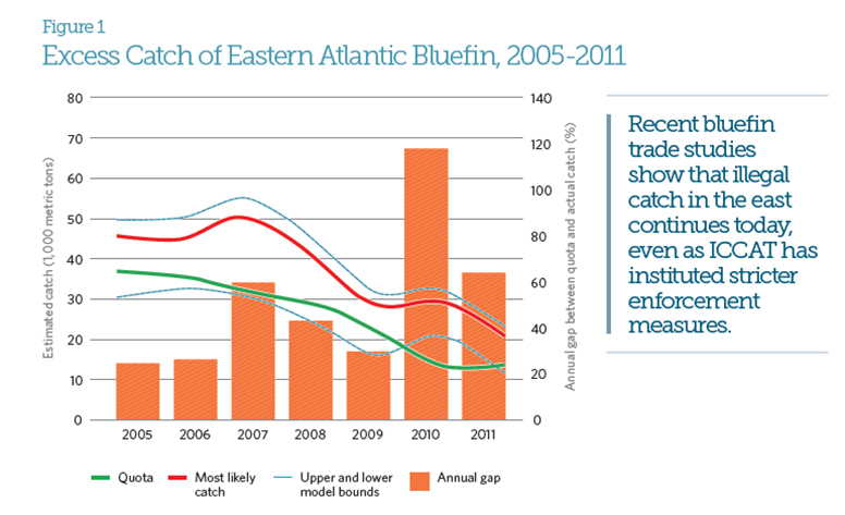 Excess Catch of Eastern Atlantic Bluefin, 2005-2011