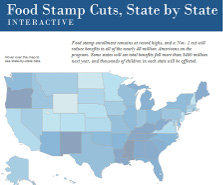 Interactive:Food Stamp Cuts, State by State