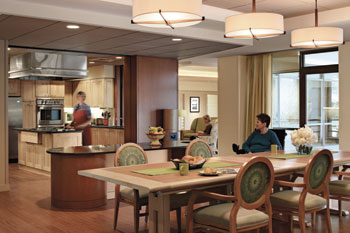 Stateline putting the 39 home 39 in nursing homes for Nursing home dining room ideas