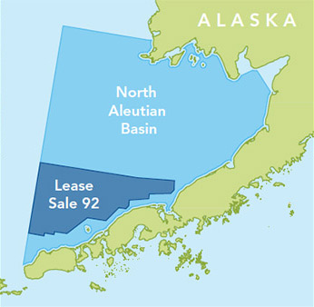 Map of North Aleutian Basin