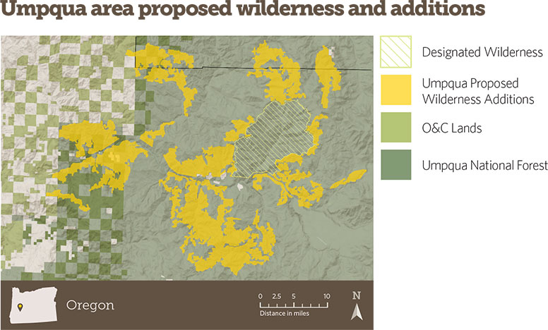 Umpqua area proposed wilderness and additions