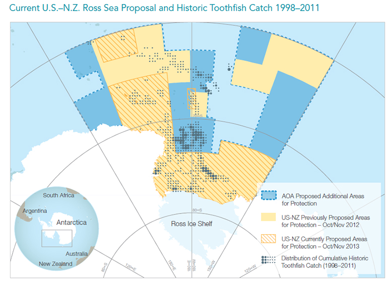 Current U.S.-N.Z. Ross Sea Proposal and Historic Toothfish Catch 1998-2011
