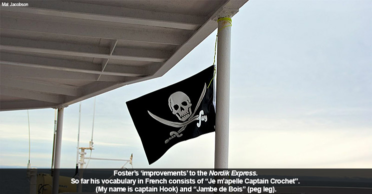 Foster's 'improvements' to the Nordik Express.