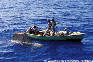 Illegal fishing in Haiti