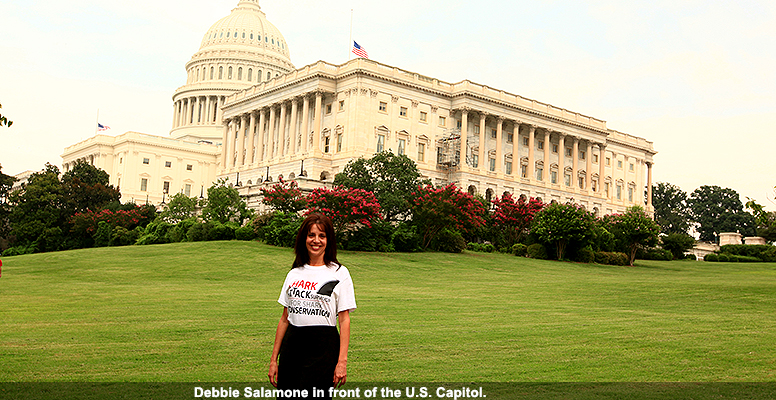 Debbie Salamone in front of the U.S. Capitol.