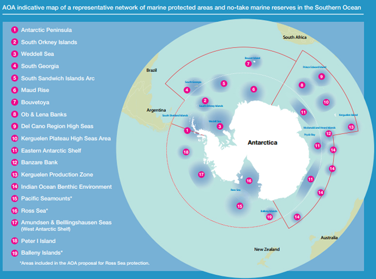 Map of Ross Sea Networks